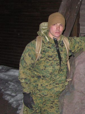 Veteran Marine Sgt. Christopher Marquez, shown here in South Korea, was recently assaulted at a McDonald's in Washington, D.C. Marquez said he believes the incident was racially motivated.