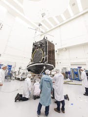 A Boeing communications satellite will be on board