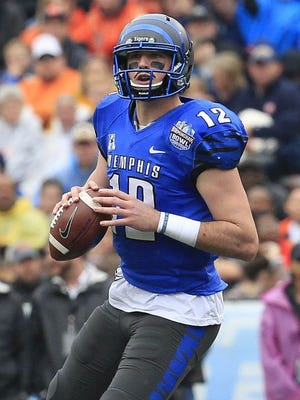 Memphis quarterback Paxton Lynch threw for 3,776 yards and 28 touchdowns last season.