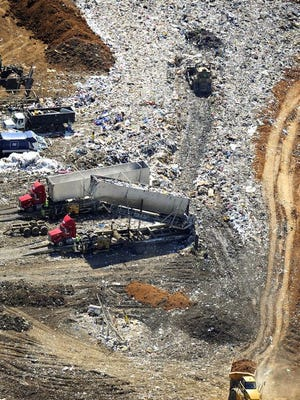 Middle Point Landfill collects trash off East Jefferson Pike in Rutherford County's Walter Hill community north of Murfreesboro.