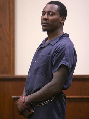 Murder suspect Jeffrey Mason stands before Judge Blake Anderson in Jackson City Court for a hearing on Thursday.
