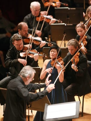 "Jennifer Koh, violinist, premiered Anna Clyne's ""The Seamstress"" with the CSO for MusicNOW."