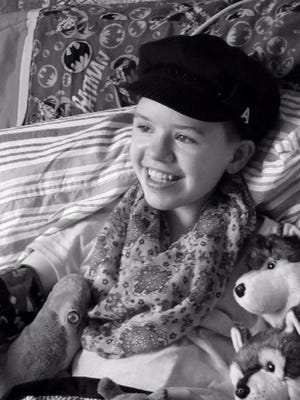 Abigail Kopf is seen in this photo provided by her family after a therapy session.