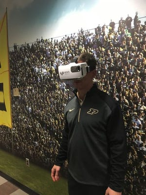 Purdue is one of only six college teams, and the lone Big Ten school, to use EON Sports virtual reality tool for quarterback training.