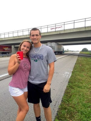 Gavin Spinneweber, the solo cup artist who asked his date to prom over I-95, just won 'Best Promposal' at Rockledge High School.