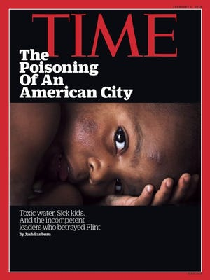 Free Press photographer Regina H. Boone's photo of the Flint water crisis was on the cover of Time magazine's February 2016 issue.