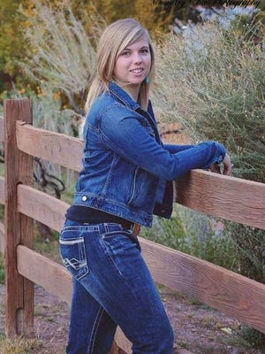 Capitan High School National FFA Organization recipient Bryanna Parker.