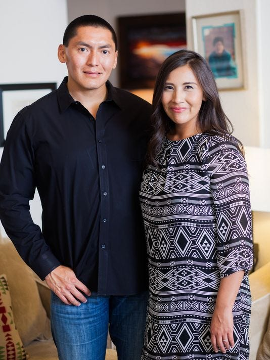 Carlyle Begay and Candace Begody-Begay