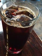 Ethiopian iced coffee at Fair Grounds Coffeehouse.