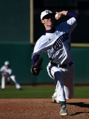 Spanish Springs' Ryan Anderson delivers a pitch at Greater Nevada Field in April
