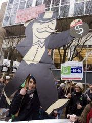A demonstration in Portland, Oregon, in 2010.