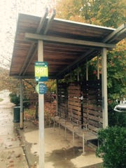 Volunteers built this bus stop shelter on Clingman Avenue.