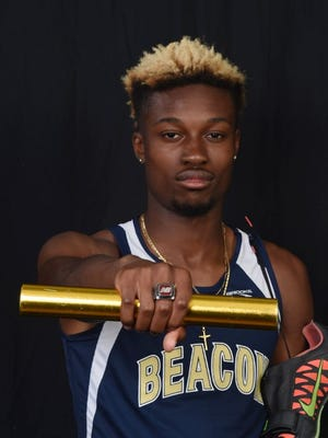 Beacon High School track and field athlete Rayvon Grey poses for a portrait.