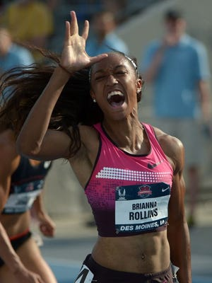 Brianna Rollins, who won three NCAA titles during her career at Clemson, led all qualifiers in the 100-meter hurdles at the USA Track & Field Olympic Trials Thursday night.