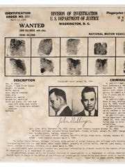 FBI wanted poster for John Dillinger, 1934 (Photo: Collection of the Indiana State Museum and Historic Sites)