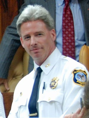 Clarkstown Police Chief Michael Sullivan is suspended and faces disciplinary charges.