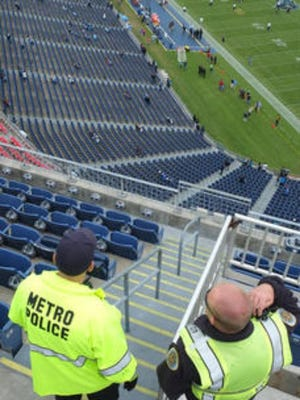Metro police will take over all law enforcement duties at Nissan Stadium for the 2016-17 Tennessee Titans' season, and for other large events at the venue, the department and Titans announced Friday.