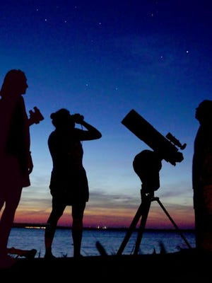 star gazing at Rancocas Nature Center in Westampton on Friday night