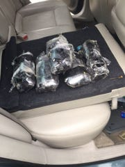 Authorities seizred more than nine pounds of crystal meth from a car pulled over in Henry County.