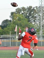 Jamal Allen hauls in a 67-yard touchdown pass from