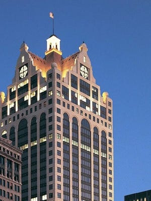 The 35-story 100 East office tower, one of downtown Milwaukee's largest office buildings, is in foreclosure.