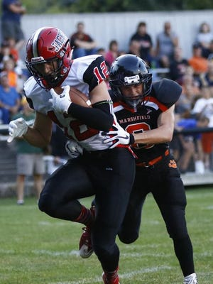 Thomas Dunbar had 47 receptions for 750 yards for the Wausau East football team this fall. He was named the Win Brockmeyer Award winner Friday.