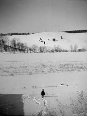 """A drought in the mid-1960s brought a rainmaker to York, complete with magic box. (More about this strange story:http://bit.ly/2dg0BMj). That same drought brought Lake Redman, too. This is how Lake Redman looked before it was Lake Redman. Lureen Brown provided these photos of that snowy York Township countryside as it looked in 1961. This photo looks across the hill as it comes down from Jacobus. Five years later, lake waters flooded this land. The boat landing at Lake Redman is roughly where the big hill meets the ridge, left center. Lureen Brown said if you'd stand in that field today: 'You'd be under water."""""""