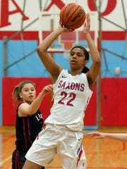 South Salem guard Evina Westbrook shoots in the lane March 4 against Lake Oswego.