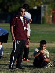 Sparks soccer coach Jose Espana led the Railroaders to the 3A state title Saturday