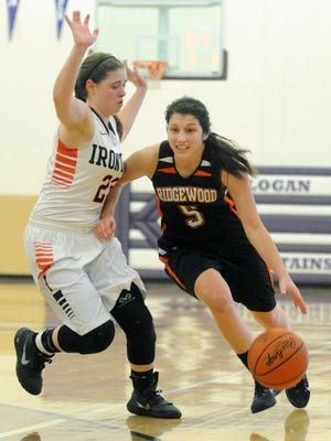 Audrey Tingle drives to the basket against Ironton last season.