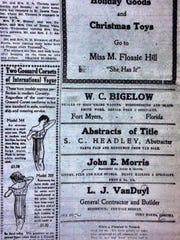 This is some of what readers saw in this newspaper's pages more than 100 years ago.