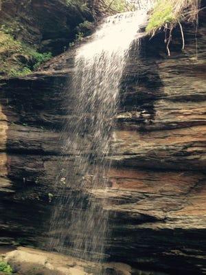 Moore Cove Falls in Pisgah National Forest, Transylvania County, North Carolina.