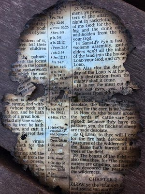 Isaac McCord, a Dollywood employee, said he found a burned Bible page at Dollywood after wildfires tore through Sevier County.