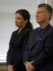 Vanessa Brown and defense lawyer Edward Bilinkas in