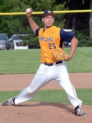 Hartland's John Baker is pitching at Ball State after