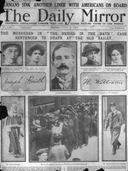 """The Daily Mirror in London on July 2, 1915, details """"The Brides in the Bath"""" killings that led to the execution of George Joseph Smith."""