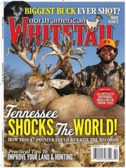 Stephen Tucker and his world record deer are featured