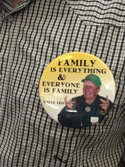 Buttons the Vanoni family wore to the September Ventura