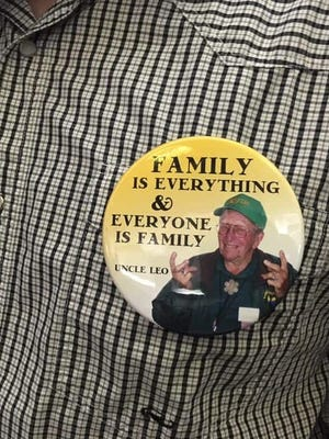 Buttons the Vanoni family wore to the September Ventura City Council meeting in support of Northbank, a residential project.