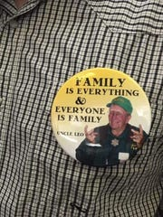 Buttons worn by the Vanoni family and supporters of the Northbank project.