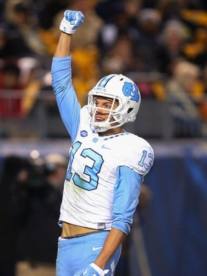 The Eagles selected North Carolina wide receiver Mack Hollins with one of their two fourth-round picks on Saturday.