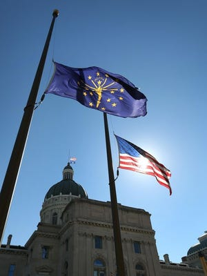 Indiana Statehouse in Indianapolis.