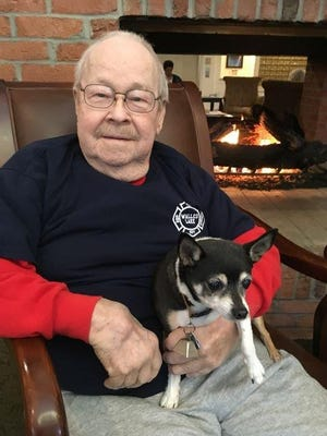 Ray Overall and his rat terrier, Max.