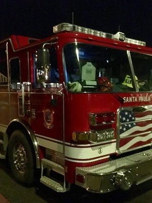 Santa Paula Fire Department truck.