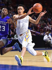 Trey McGowens, who led Wren to the state finals last