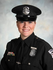 Patty Esselink is the Canton Police Officer of the Year.