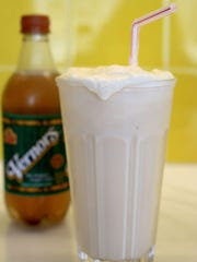 Boston Cooler, made with Vernor's and vanilla ice cream.
