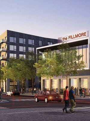 """The Phoenix City Council approved a new development deal with Trammell Crow Co. that will transform a barren piece of city-owned property on Fillmore Street between Fourth and Sixth avenues into """"The Fillmore,"""" a bustling urban center with hundreds of residential units, retail shops, sidewalk cafes and plazas with water features."""