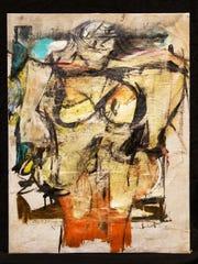 """Willem de Kooning's """"Woman-Ochre"""" painting."""