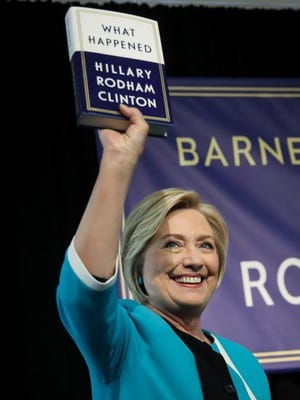 Hillary Clinton at a book signing event in New York on Sept. 12, 2017.